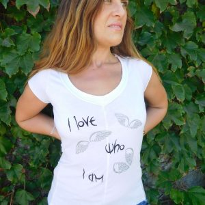 I Love Who I Am Designer T-shirt White