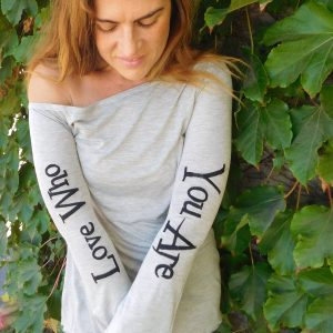 Love Who You Are Designer shirt - Grey
